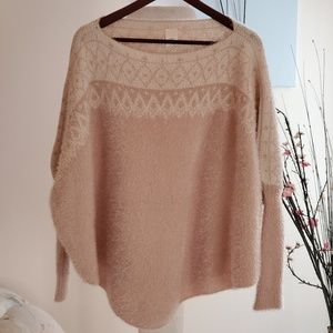 Francesca's beige sweater